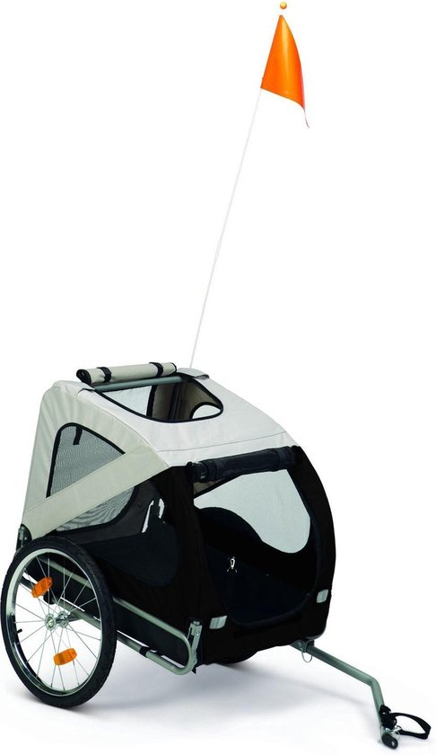 Adori Fietskar - Hondenfietskar - 125x75x95 cm Grijs Zwart