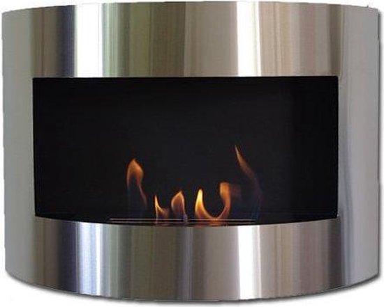 Bio-ethanol sfeerhaard Demian RVS zwart met regelbare brand
