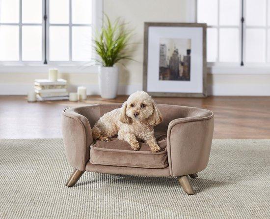 Enchanted hondenmand / sofa romy stone lichtbruin 67,5x40,5x30,5 cm