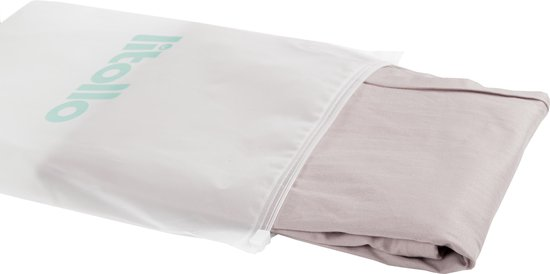 Litollo® Zwangerschapskussen (J-shape) | Voedingskussen | Lichaamskussen | Zijslaapkussen |Body pillow | hoes XXL 145cm | Grijs
