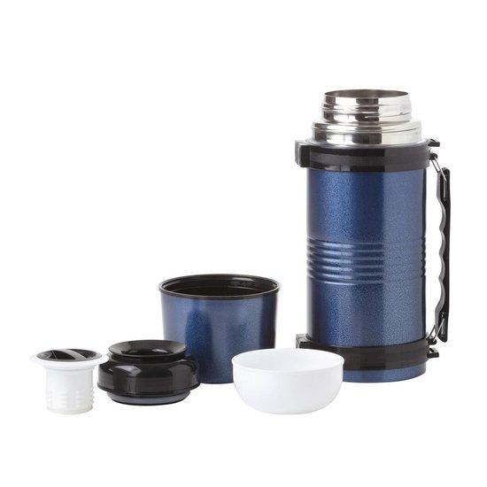 MacGyver Thermosfles Rvs - Thermosfles 1,2 Liter - Onbreekbaar - Blauw