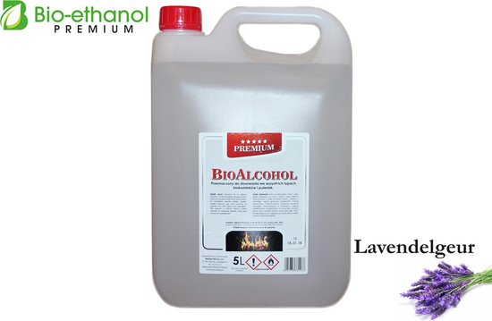 Premium -Bio-ethanol met Lavendelgeur- Bioethanol - 100% biobrandstof -(5 liter)