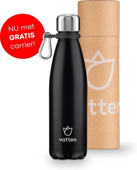 Thermosfles Vatten - Zwart - Gratis Carrier - 500ml - Isoleerfles
