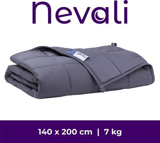 Nevali® Verzwaringsdeken 7 kg - 7-laags design - Verzwaarde Deken - Weighted Blanket - Zware Deken - Beter Slapen & Minder Stress - 140 x 200 cm