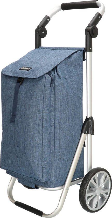Boodschappentrolley Inklapbaar met Koeltas + Kantelbaar Handvat - Jeans