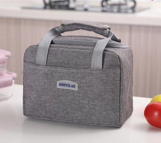 Lunchtas Volwassen - Lunchbox - Koeltas - Grijs - SEVEND®